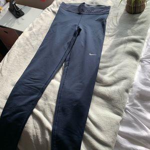 Navy Blue Nike Pro Leggings